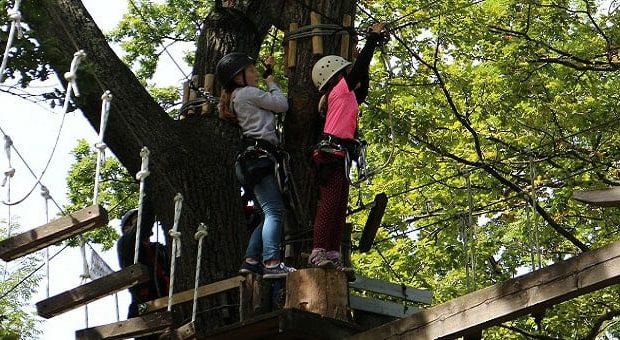 Parchi Avventura nelle Marche per bambini: il ponte sospeso