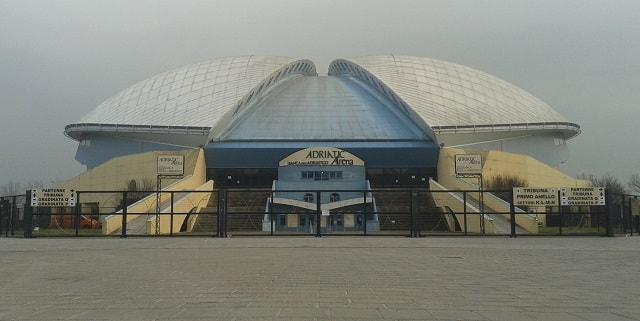 Adriatic Arena di Pesaro, palestra della Victoria Libertas