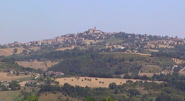 Panorama di Montegiorgio sul colle