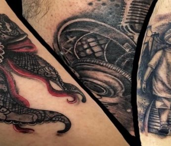 Italia Tattoo Convention 2019 a Ancona: tatuaggio di London Tattoo - Marotta
