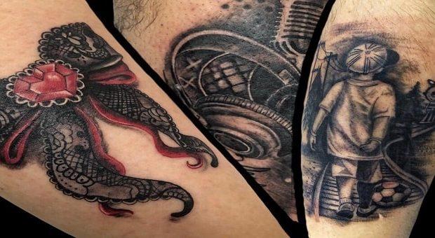 Italia Tattoo Convention 2019 a Ancona: tatuaggio di London Tattoo - Marotta