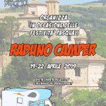 Locandina raduno camper a Pergola per la Pasqua 2019