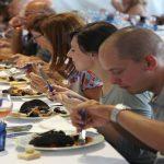 Il pubblico durante uno dei cooking show