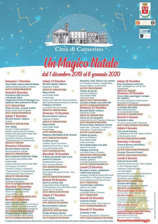Eventi Natale 2019 a Camerino