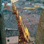 Festa della Befana di Urbania 2020, vista dal campanile