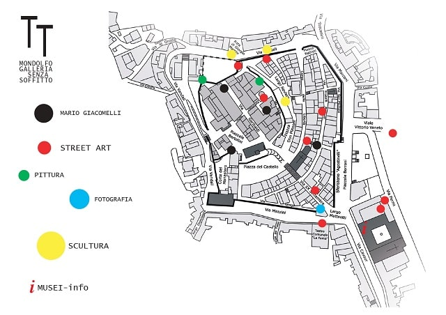 Galleria senza soffitto a Mondolfo, piantina