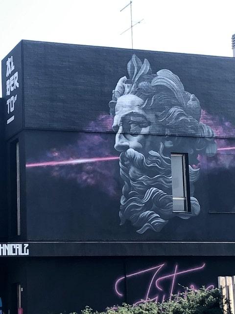 Murales Poseidone Marotta