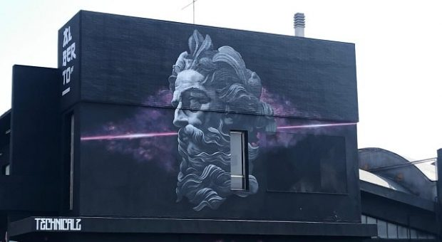 Murales di Poseidone a Marotta